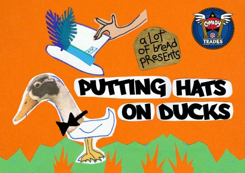 Putting Hats On Ducks Postcard Front